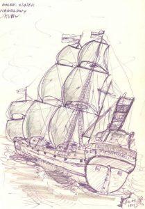 Holenderski statek handlowy
